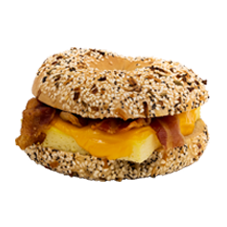 bacon, egg and cheese bagel