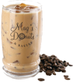 iced coffee drink at mags donuts in irvine california